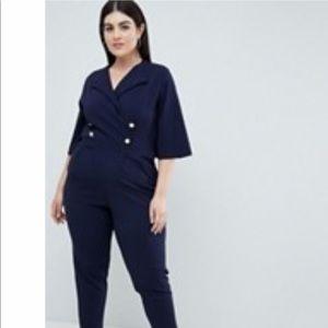 Asos Plus / Curve Jumpsuit (Navy Blue) size 20